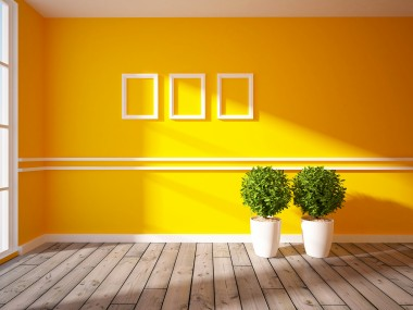 Ralston empty orange wall with white inserts shutterstock_121012048